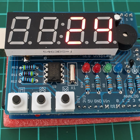 Tutorial – LED Real Time Clock Temperature Sensor Shield for Arduino