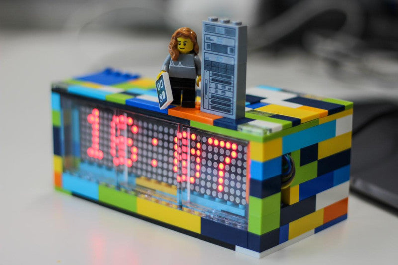 Learn how to build an LED matrix clock that's controlled by Arduino and has a LEGO enclosure.