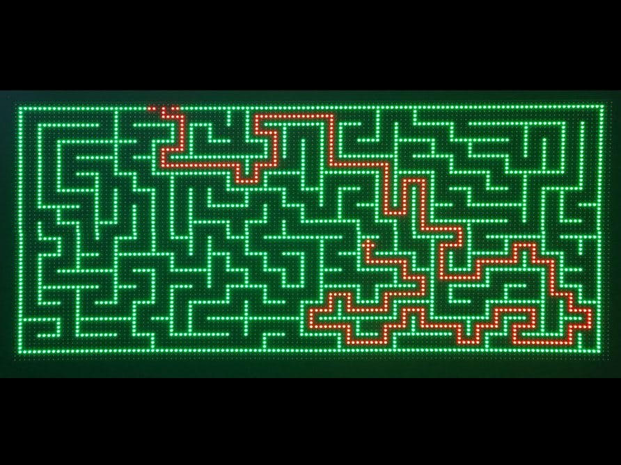 Experimenting with large LED matrix displays and Arduino