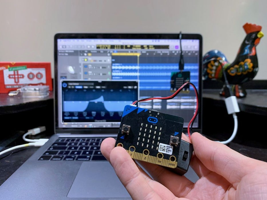 Make a wireless MIDI CC controller with BBC micro:bit