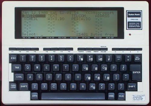 Surfing the Internet with a Tandy Model 100