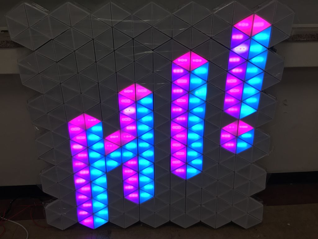 Use Arduino-powered LED triangles to build an interactive display