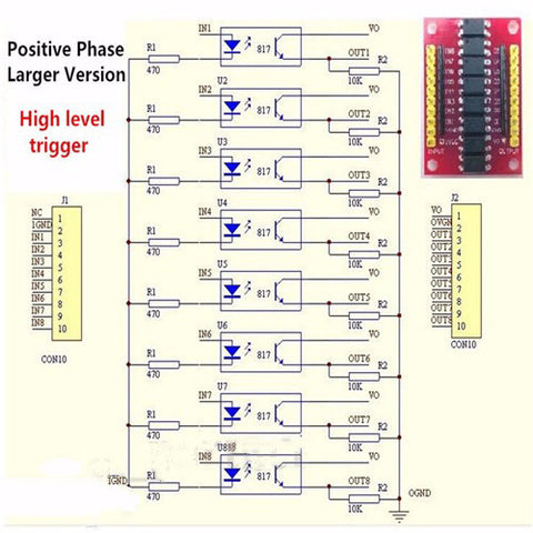 Useful 8 Channel Optocoupler Breakout Board from PMD Way with free delivery worldwide