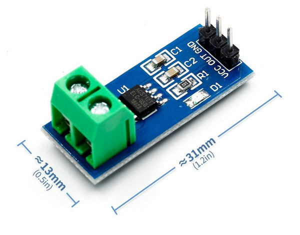 Measure AC or DC current up to 30A with the ACS712 hall current sensor module from PMD Way with free delivery worldwide