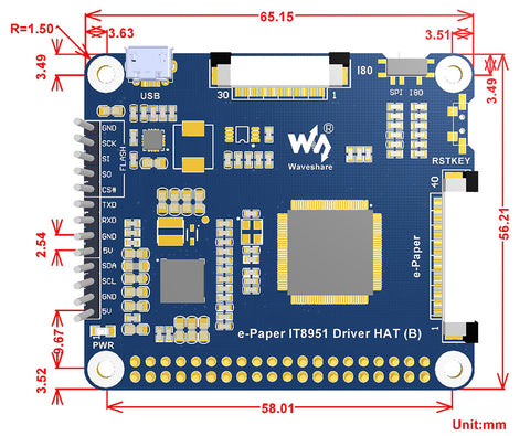 ePaper display for Raspberry Pi from PMD Way with free delivery worldwide