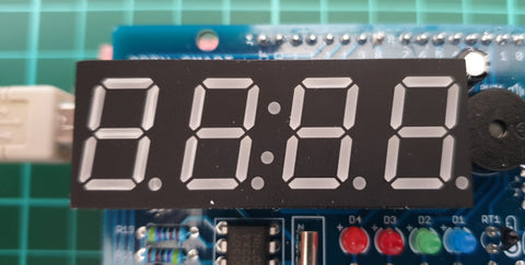 LED Real Time Clock Temperature Sensor Shield for Arduino