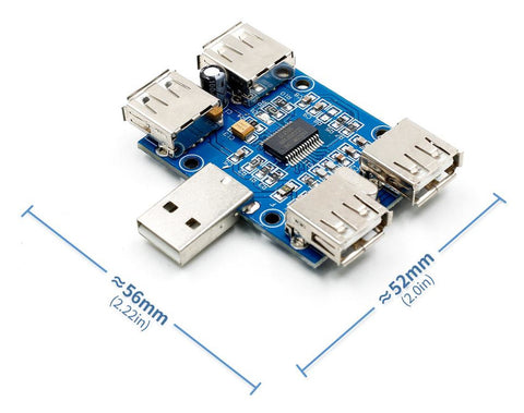 Value 4 Port 1A USB 2.0 Hub Module from PMD Way with free delivery worldwide