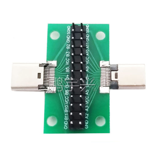 Easily tap into USB C cables with the USB 3.1 Type C Male to Female Breakout Test Board from PMD Way with free delivery worldwide