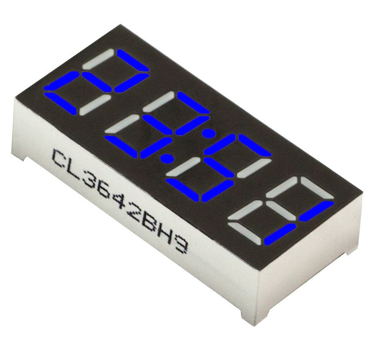 "0.56"" 4-Digit 7-segment LED Clock Display - Blue - CA - 5 Pack from PMD Way with free delivery worldwide"