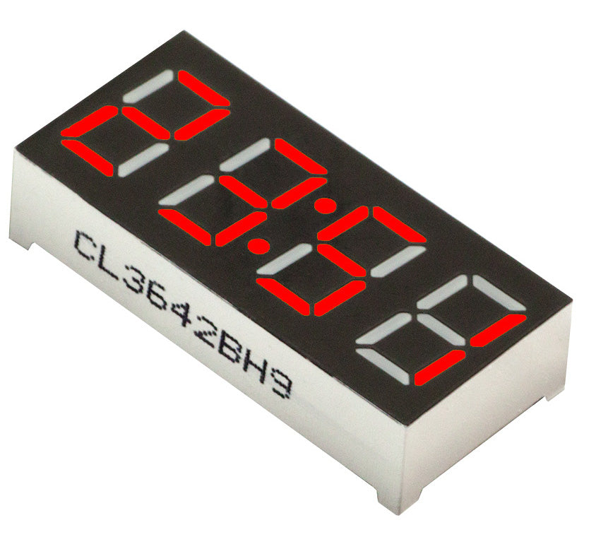 "0.56"" 4-Digit 7-segment LED Clock Display - Red - CA - 5 Pack from PMD Way with free delivery worldwide"