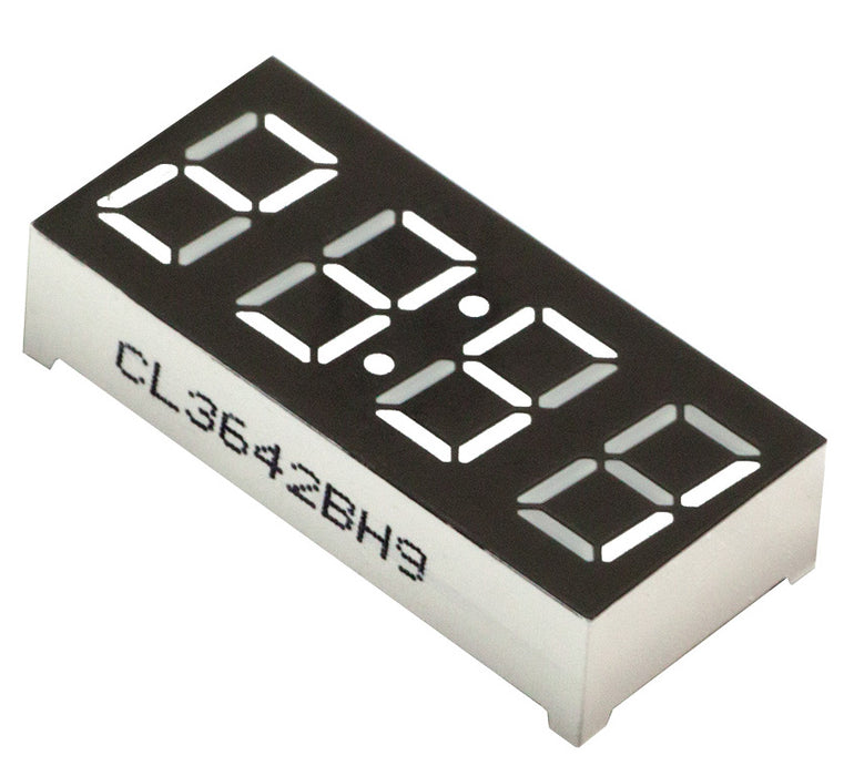 "0.56"" 4-Digit 7-segment LED Clock Display - White  - CA - 5 Pack from PMD Way with free delivery worldwide"