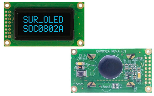 Bright and clear 0802 Character OLED Displays from PMD Way with free delivery worldwide