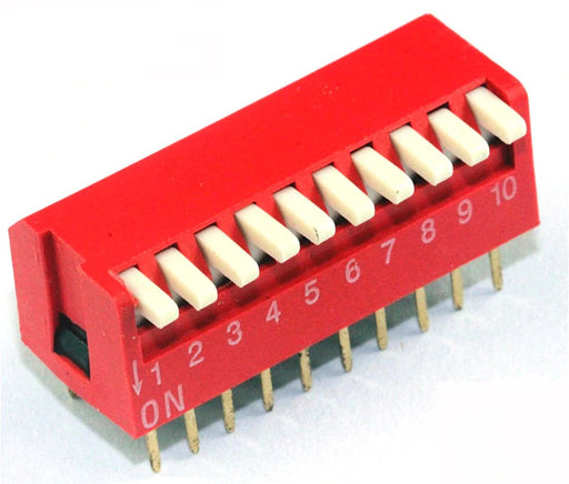 Piano Style DIP Switch - 10 Way - 10 Pack from PMD Way with free delivery worldwide