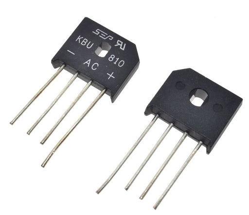 Great value 1000V 8A KBU810 Diode Bridge Rectifiers in packs of ten from PMD Way with free delivery worldwide