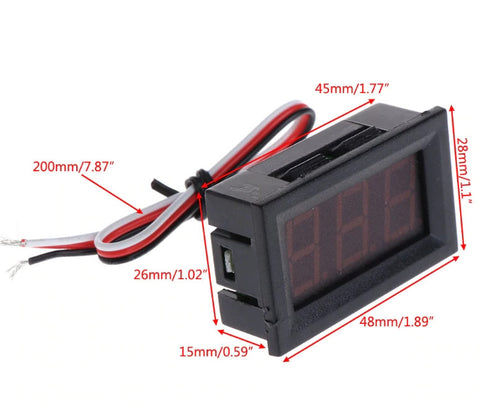 LED Digital DC Voltage Panel Meter 0~100V DC from PMD Way with free delivery worldwide