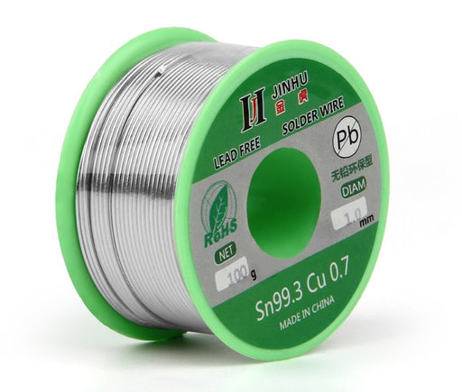 Lead Free Tin Copper Solder in 100g rolls from PMD Way with free delivery worldwide