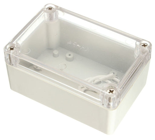 Plastic Enclosure with Clear Cover 100 x 68 x 50mm