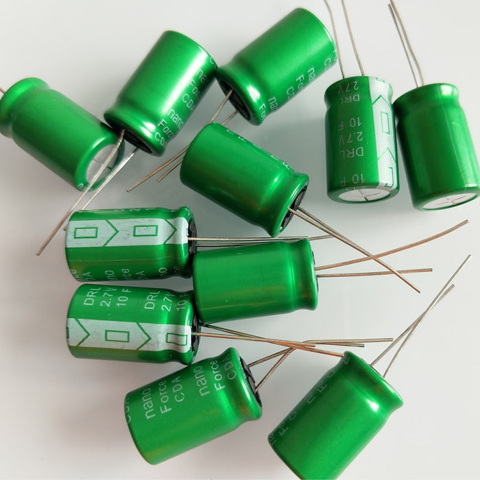 Quality 10F 2.7V Super Capacitors in packs of ten from PMD Way with free delivery worldwide