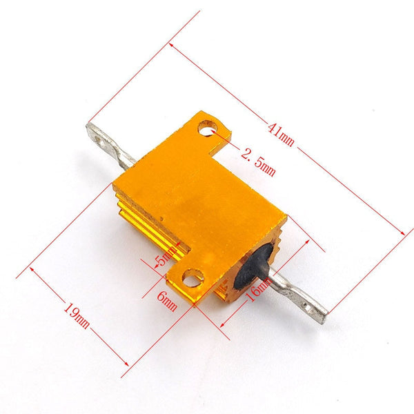 10W Aluminium RX24 High Power Metal Shell Heatsink Resistors in packs of two from PMD Way with free delivery worldwide