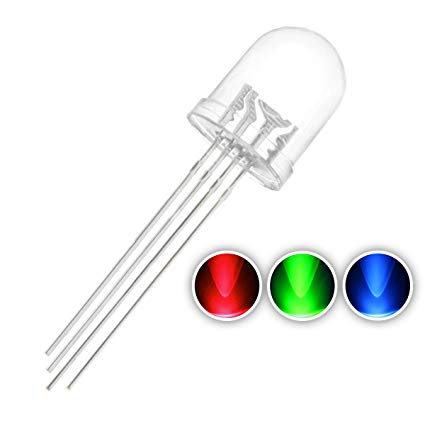 10mm Clear RGB LED - CC - 50 Pack from PMD Way with free delivery worldwide