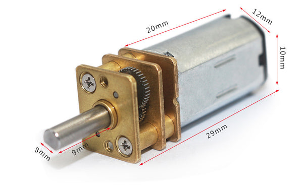 6V 12V 12mm Micro Gear Motors from PMD Way with free delivery worldwide