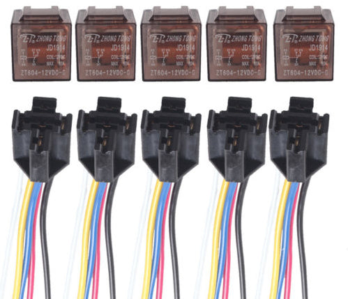 DC 12V 60A SPDT Relay and Socket - 5 Pairs from PMD Way with free delivery worldwide
