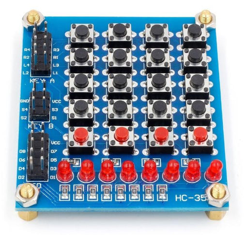Easily connect twenty buttons and eight LEDs to your project with this breakout board. Ideal for Arduino and Raspberry Pi as well. Free delivery worldwide from PMD Way.