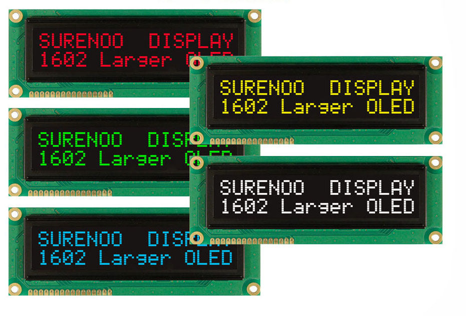 1602 Large Character Oled Display Various Colors Pmd Way