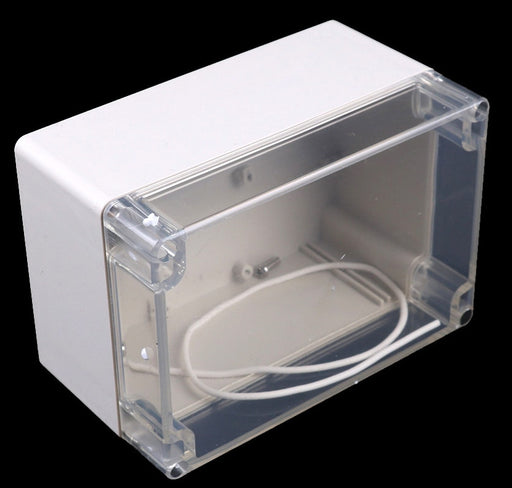 Plastic Waterproof Enclosure with Clear Cover 160 x 110 x 90mm from PMD Way with free delivery worldwide