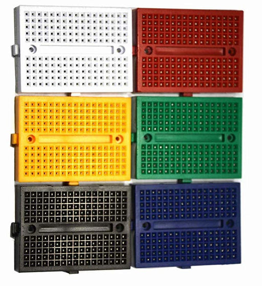 170 Point Interlocking Solderless Breadboards - Various Colors from PMD Way with free delivery worldwide