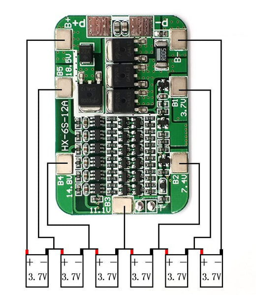 6 Cell 18650 15A Charger Module from PMD Way with free delivery worldwide