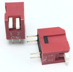 Piano Style DIP Switch - 2 Way - 10 Pack