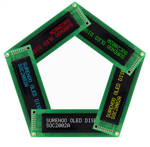 Bright and clear 2002 Character OLED Displays from PMD Way with free delivery worldwide