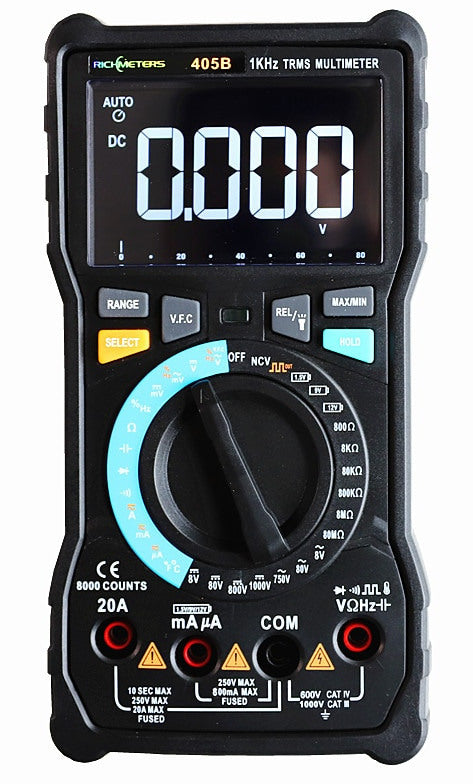 8000 Count 20A True RMS Digital Multimeter from PMD Way with free delivery worldwide