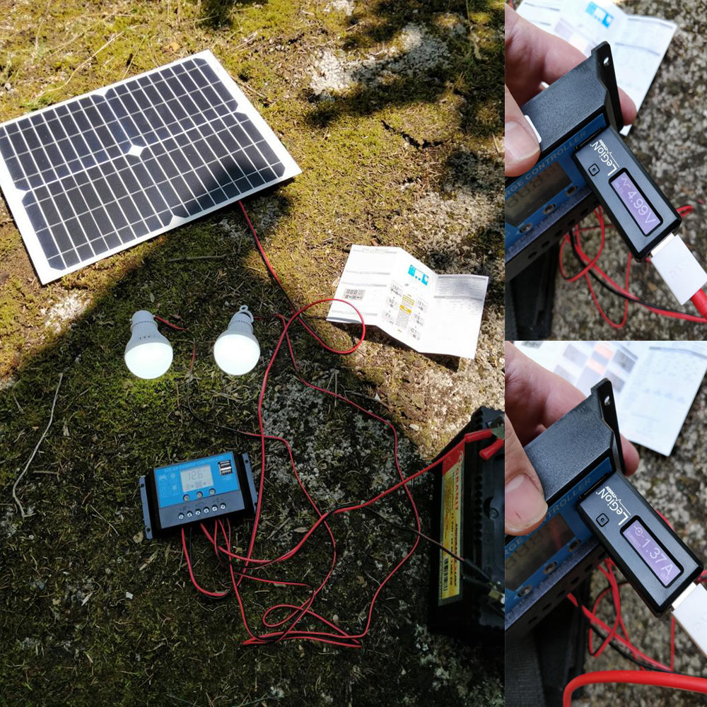 Light up your campsite and charge USB devices with this 20W Portable Solar USB and Lighting Kit from PMD Way with free delivery worldwide