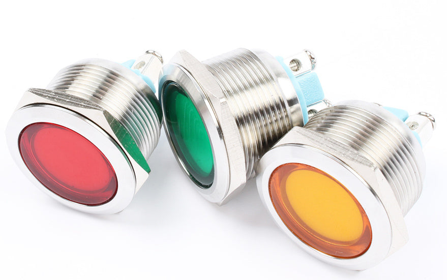 Useful 22mm Metal Panel Mount LED Indicator Lamps from PMD Way with free delivery worldwide