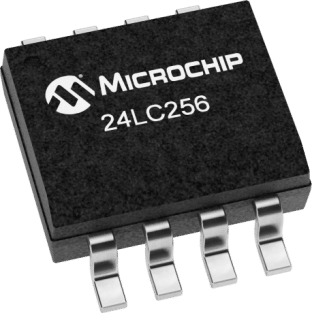 Microchip 24LC256 256Kb I2C EEPROM SMD SOP8 ICs in packs of ten from PMD Way with free delivery worldwide