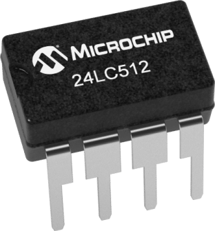 Microchip 24LC512 512Kb I2C EEPROM ICs in packs of ten from PMD Way with free delivery worldwide