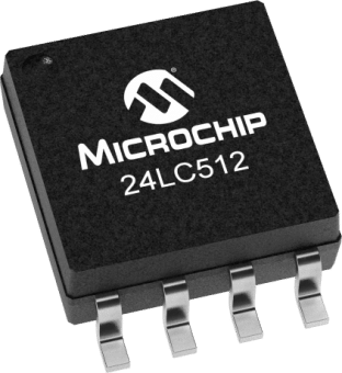 Microchip 24LC512 512Kb I2C EEPROM SMD SOP8 IC in packs of ten from PMD Way with free delivery worldwide