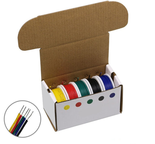 Solid Core 24AWG Five Color Pack - Breadboard Compatible - 10m Rolls from PMD Way with free delivery worldwide