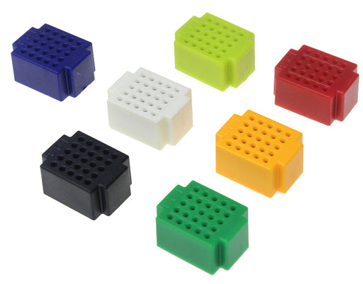 Mini 25 Point Solderless Breadboards  - 7 Pack from PMD Way with free delivery worldwide
