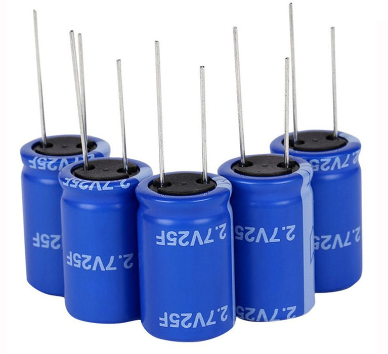 Quality 25F 2.7V Super Capacitors in packs of five from PMD Way with free delivery worldwide