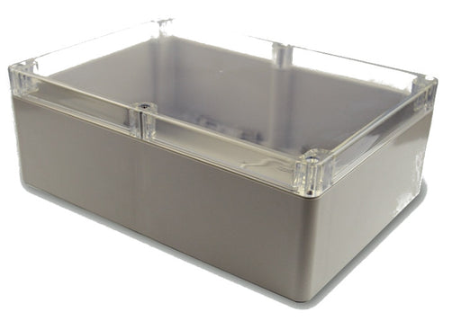 Plastic Enclosure with Clear Cover 263 x 185 x 95mm from PMD Way with free delivery worldwide