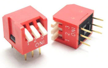 Piano Style DIP Switch - 3 Way in packs of ten from PMD Way with free delivery worldwide