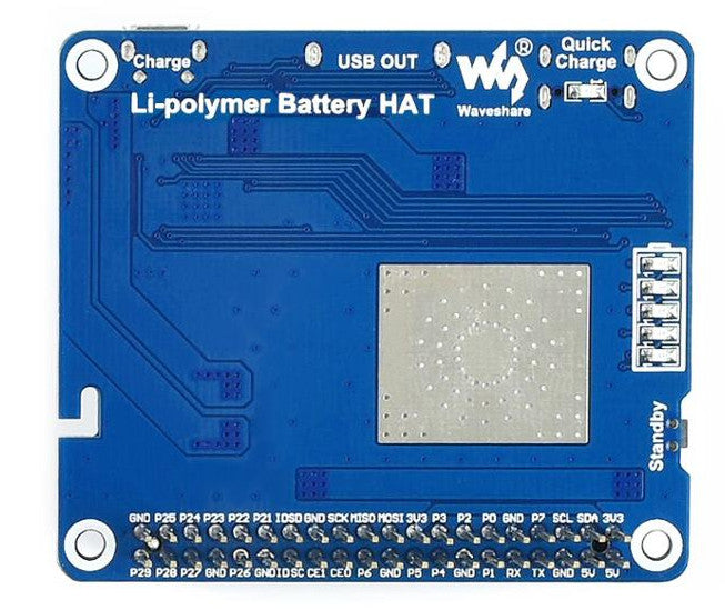 3000 mAh UPS HAT for Raspberry Pi 4B from PMD Way with free delivery worldwide