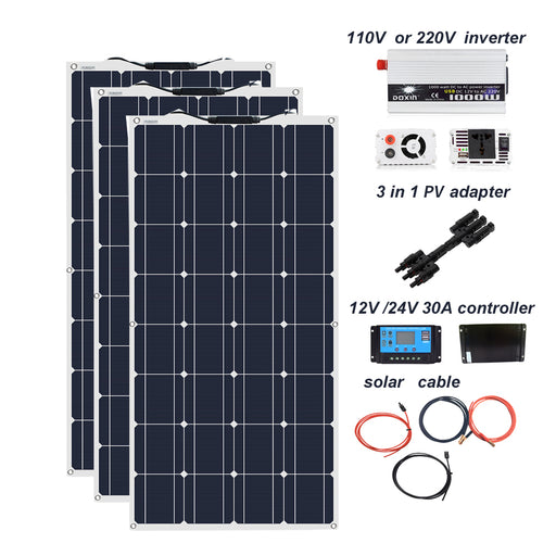 Add off-grid mains AC power to your cabin, RV, boat, site or elsewhere with this 300W Solar Power Off Grid Mains Power Kit from PMD Way with free delivery worldwide