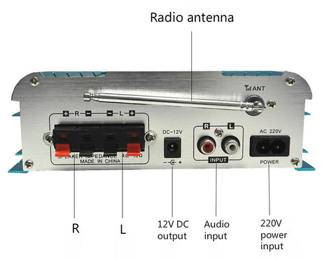 Awesome 30W x 2 Bluetooth and Karaoke Power Amplifier from PMD Way with free delivery worldwide