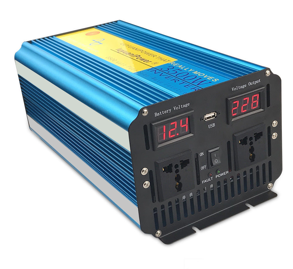 Power all your things on the road with this 3500W Pure Sine Wave Inverter 12V or 24V to 110V AC or 220V AC from PMD Way with free delivery worldwide
