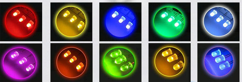 Diffused 3mm LEDs - Packs of 100 from PMD Way with free delivery worldwide