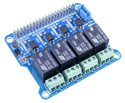 Four Channel Relay HAT for Raspberry Pi from PMD Way with free delivery worldwide
